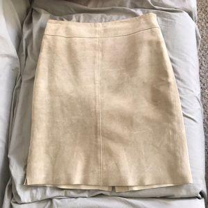 Vintage suede pencil skirt